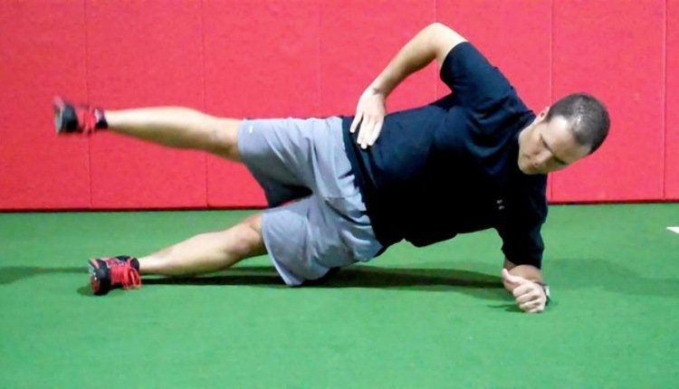 Side Plank w Hip ABD
