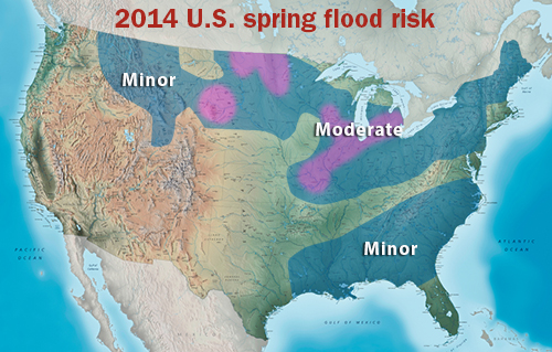 2014 U.S. spring flood risk