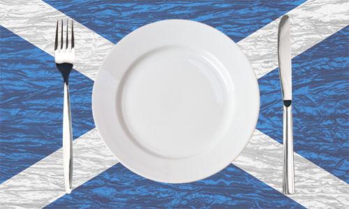Plate on Scotland's flag