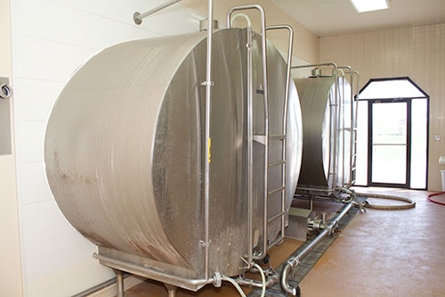 two bulk tanks