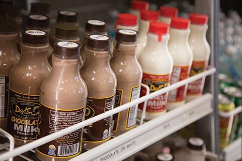 chocolate milk in cooler
