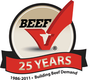 25th anniversarybeef check off logo