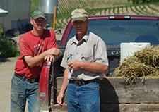 farm manager and employee