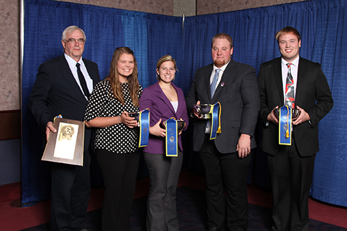 University of Illinois dairy judging team