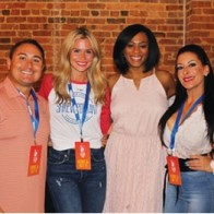 Caption: Mario Chavez, Megan Stovall, Lakesha Mosley and Tess Lopez