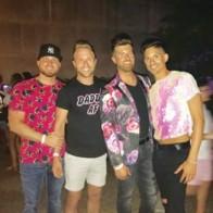 Caption: Trevor Brown, Daniel Adams, Josh Jennings and Rocco Colbert