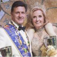 Caption: Duke Jimmy Franklin and Queen Tracey Cox