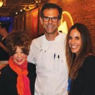 Caption: Sandi Kallenberg, Chef Barclay Dodge and Kimberly Schlosse