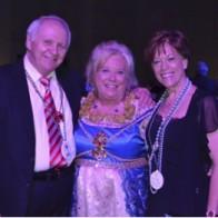 Caption: John Petros, Ruth Grafton and Gardine Froman