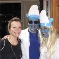 Caption: Margo Clendenin, Jeff and Andrea Everson