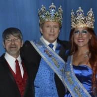 Caption: Captain Brent Lavergne, King Harry Druckenmiller and Queen Leslie Hankins