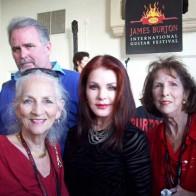Caption: Betty Humphries, Priscilla Presley, Barbara Festervan
