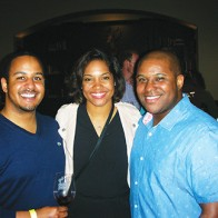 Caption: Marcus and Jabrina Edwards, Jerry Edwards