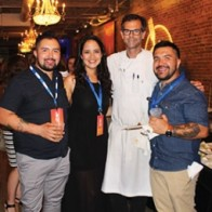 Caption: Eleazar Mondragon, Sofia Alanis, Chef Barclay Dodge and Rodrigo Mondragon