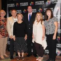 Caption: Angela Haacker, Hugh Johnson, Virginia St. John, Mark Crawford, Lisa Skains and Teri Wells