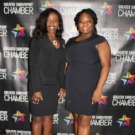 Caption: Dr. Candice Webert and Crystal Mays