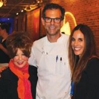 Caption: Sandi Kallenberg, Chef Barclay Dodge and Kimberly Schlosse